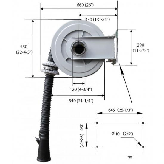 Dujų surinkimo žarnos ritė ECAS-001-75