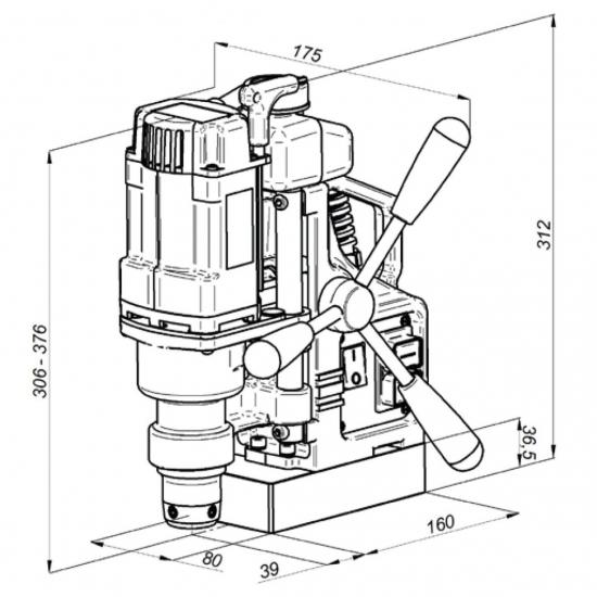 Магнитно-сверлильный станок PRO 36 920Вт / 230В