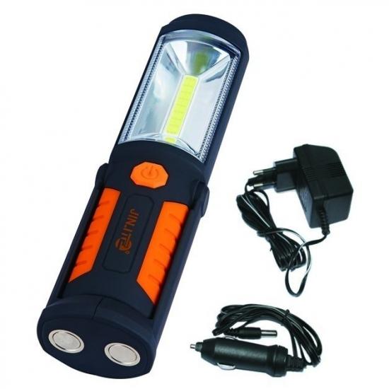 Įkraunamas prožektorius darbui COB (3W) + LED5