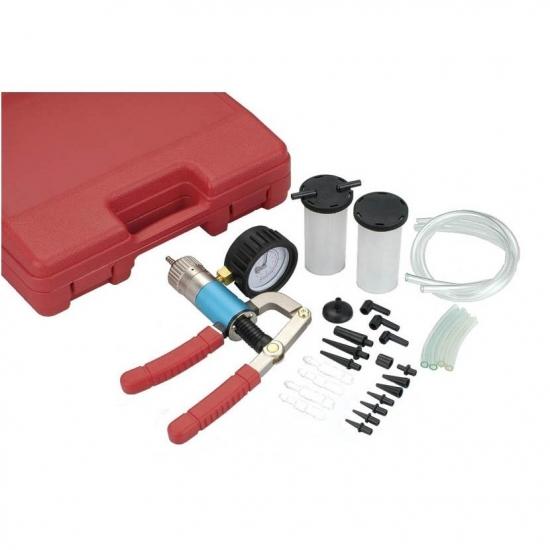 Vacuum pressure gauge for brake fluid