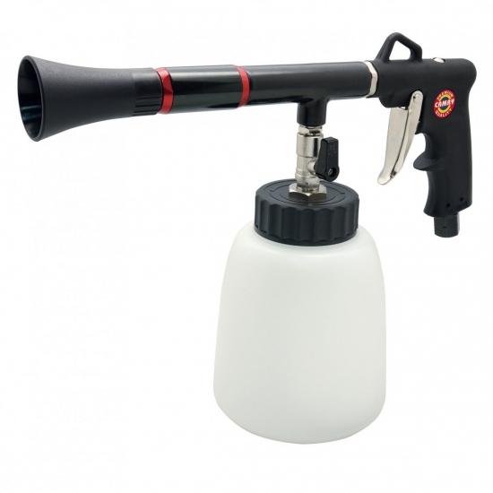 Pneumatinis plovimo/džiovinimo pistoletas su plastikiniu bakeliu