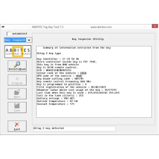 ABRITE KT011- Key Inspector programa