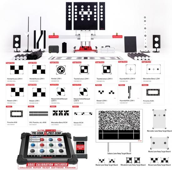 Autel MaxiSys ADAS ADVANCED pilnas komplektas + LWD + planšetė