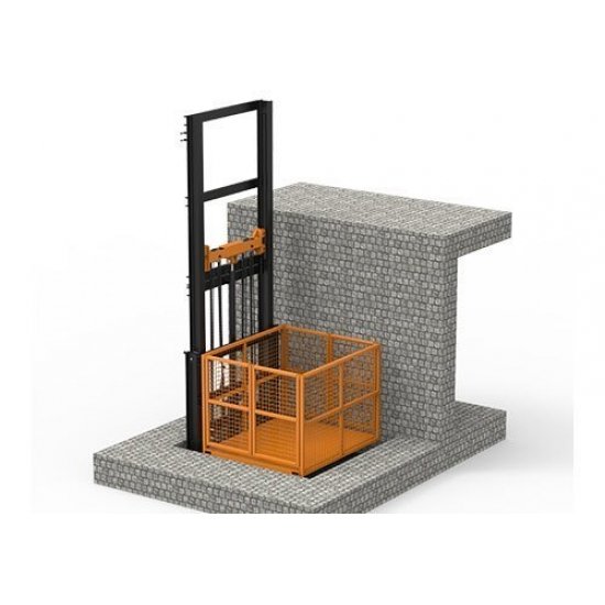Two-column cargo elevator 2.4-6m