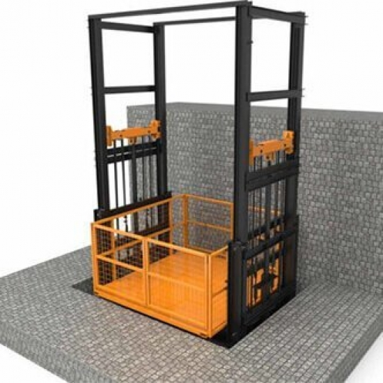 Four-column freight elevator with a network of 3-10m