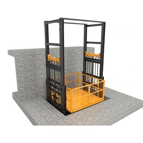 Four column cargo elevator 2.4-6.5m