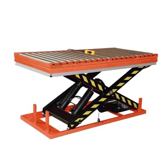Elektro-hidraulinis kėlimo stalas su ritinėliais 1-4t