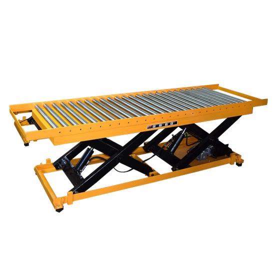 Elektro-hidraulinis kėlimo stalas su ritinėliais 1-2t