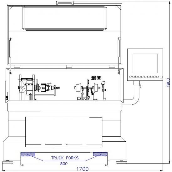 Turbinų šerdžių balansavimo įranga Cimat CMT-VSR Big Basic