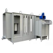 Automatic powder coating chambers