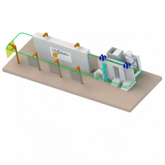 Automatinė miltelinio dažymo linija COLO LINE 1