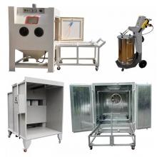 Powder coating equipment sets