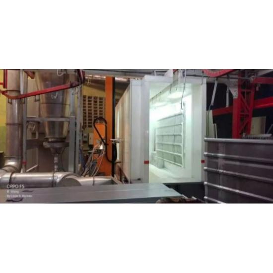 PP plastiko miltelių dengimo kabina ir automatinė miltelių kabina su ciklonu COLO Booth