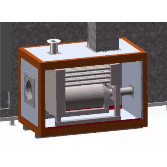 Powder coating heat exchanger