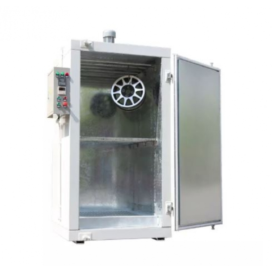 Wheel powder coating furnace features