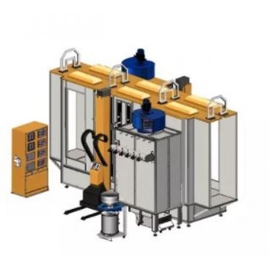 Vienspalvė automatinė miltelių dengimo kabinos sistema COLO