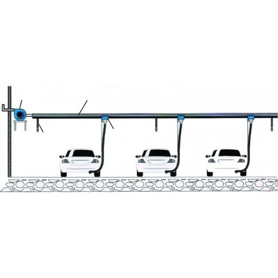 Linijinė išmetamųjų dujų surinkimo sistema 75 mm (Dia.) x 4M long ECAS-202-75