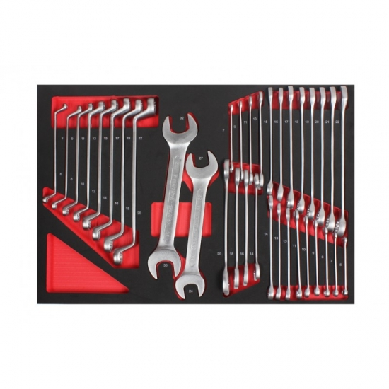 Profesionali įrankių spintelė su įrankiais 6 stalčių 234 vnt.