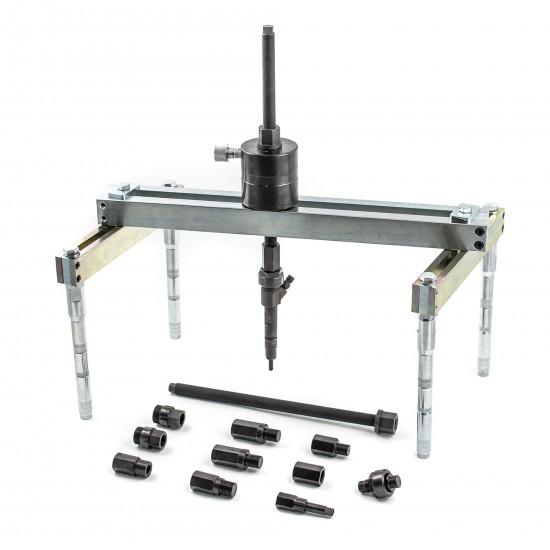 Universalus purkštukų ištraukimo rinkinys su hidrauliniu cilindru