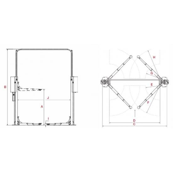 Dviejų kolonų hidraulinis keltuvas Consul 2.40 HD FLEX