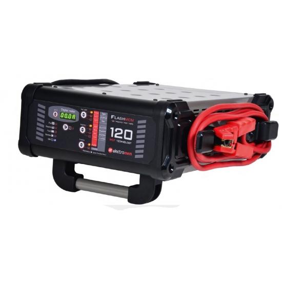 Electronic battery charger - Power supply Flashmem 120 2,7m, 12V Wet-Agm-Lithium
