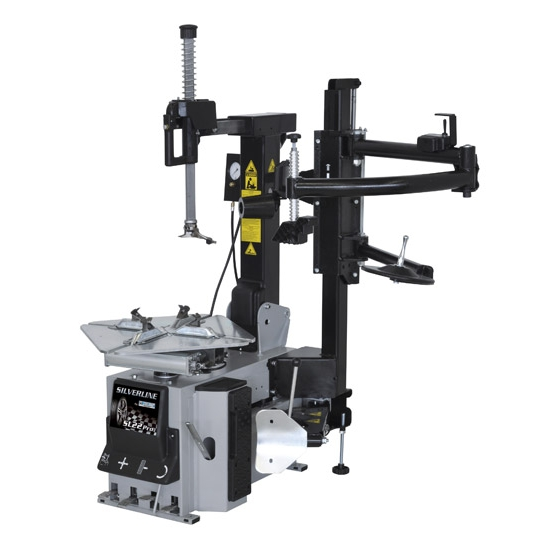 Automatic tilt back tyre changer with dual assist arm Giuliano SL22 Pro Silverline