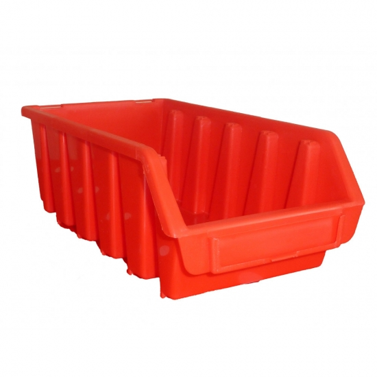 Plastic red box for perforated wall