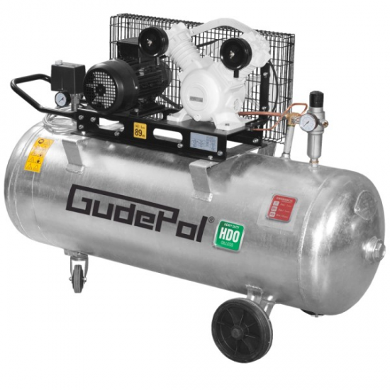 GudePol betepalinis oro kompresorius 90l 300l/min 10bar