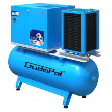 Sraigtiniai kompresoriai su oro baku ir sausintuvu