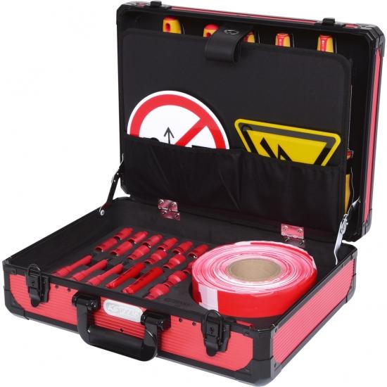 Izoliuotų įrankių komplektas, skirtas hibridinėms tr. priemonėms ir elektromobiliams