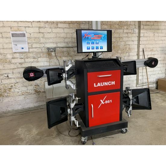 Launch X-861 3D ratų suvedimo stendas