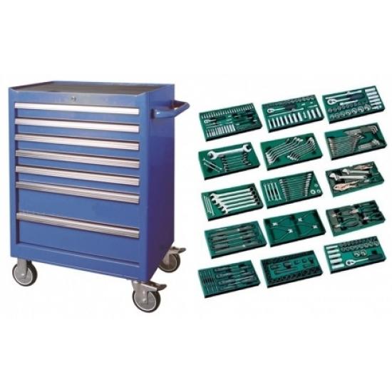 Įrankių spintelė su SATA įrankiais 300vnt.