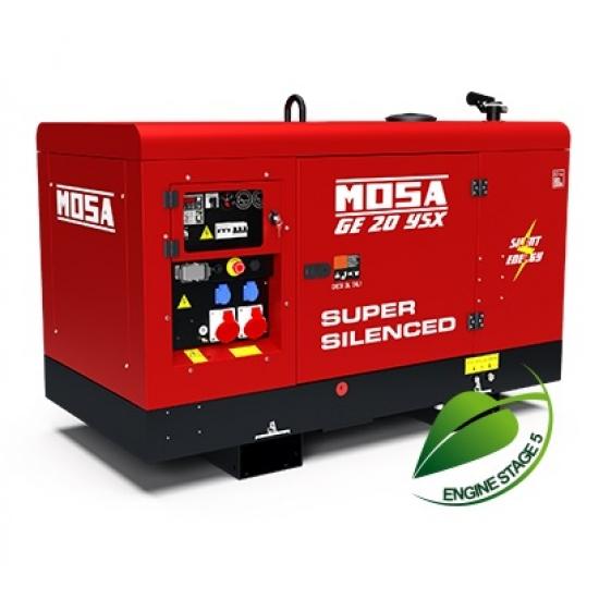 Dyzelinis generatorius MOSA GE 20 YSX 18 kW 1500 aps/min