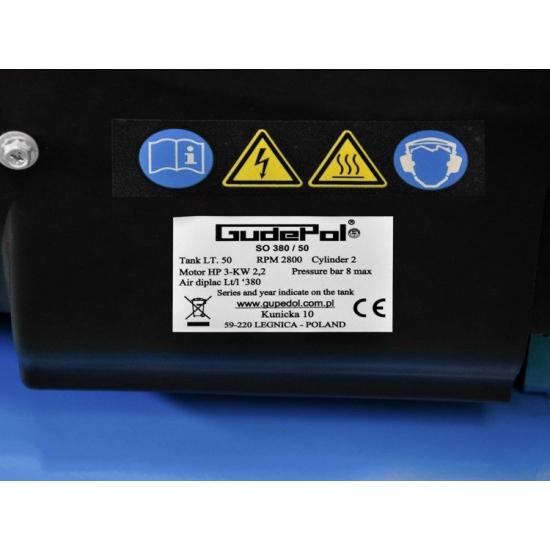 GudePol oro kompresorius 50l 380l/min 8bar
