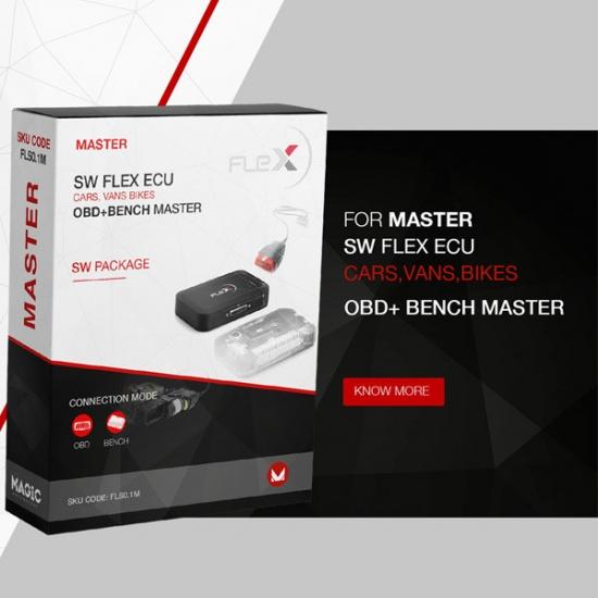 Automobilių konfigūratoriaus Flex MASTER ECU OBD + Bench