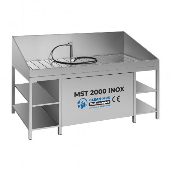 Detaliu plovykla Marwis MST 2000 INOX su pneumatiniu siurbliu