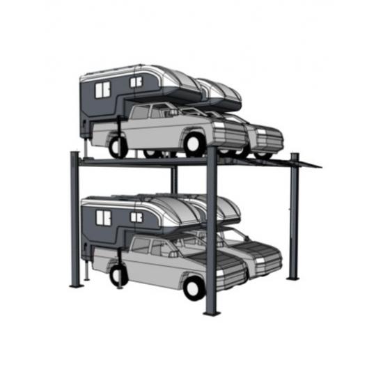 Aukštas keturių vietų dvigubas keltuvas parkingui INT-XLT 2+2-high