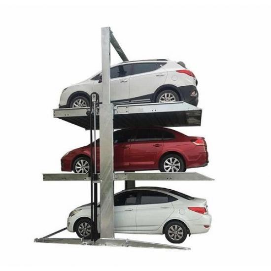 Trijų vietų parkingo keltuvas montavimui lauke