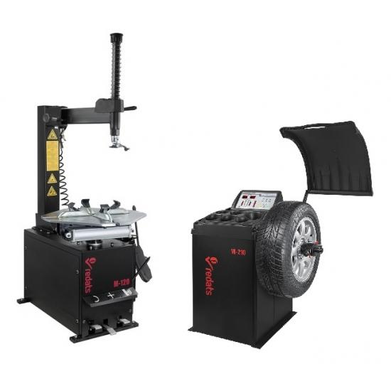 Set of Retats M-120 mounting and Redats W-210 balancing machines