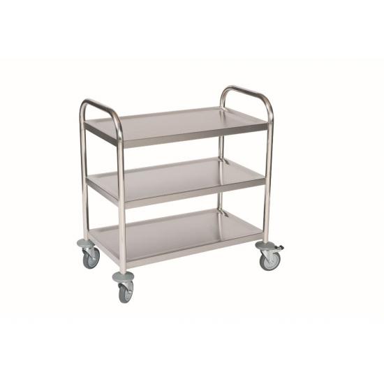 Nerūdijančio plieno aptarnavimo vežimėlis 100 kg NH Handling RVL3