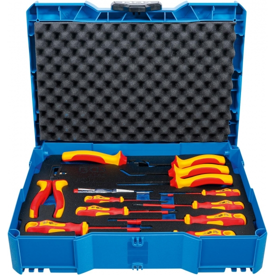 VDE pliers, screwdriver set BGS systainer® 13 pcs.