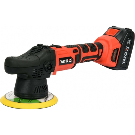 Cordless eccentric polisher without brush