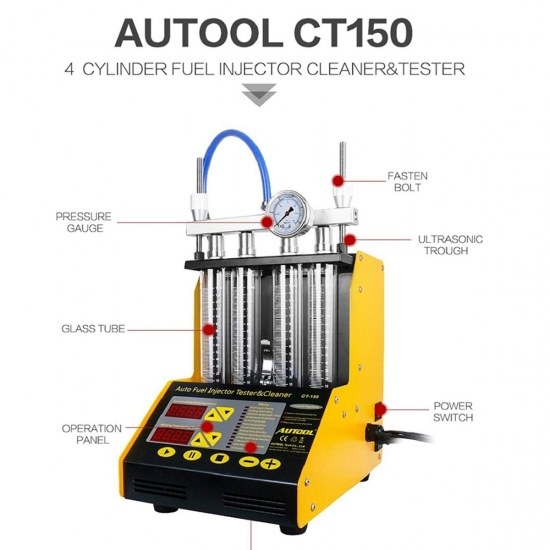 Fuel injection tester and injector cleaning device