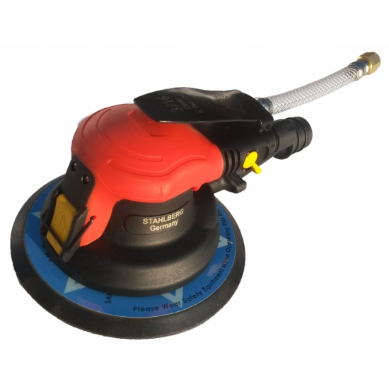 Pneumatic polisher / grinder with suction 150 mm