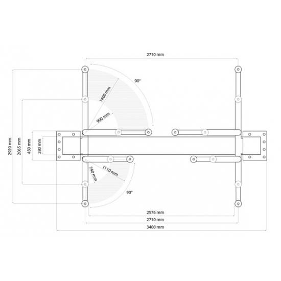 Elektrohidraulinis dviejų kolonų keltuvas Weber Classic 4.0M