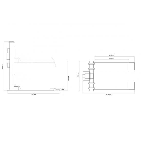 Vienos kolonos keltuvas Weber Monolift 1000