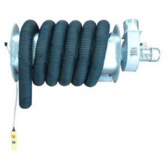 Elektrinė dujų surinkimo žarnos ritė su ventiliatoriumi GERF
