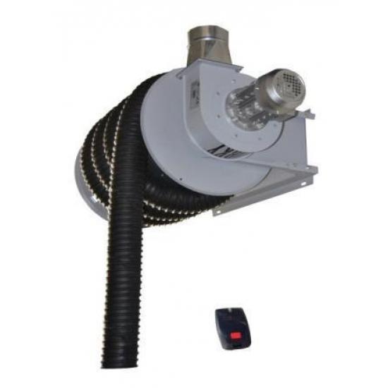 Elektrinė dujų surinkimo žarnos ritė su ventiliatoriumi GERFT