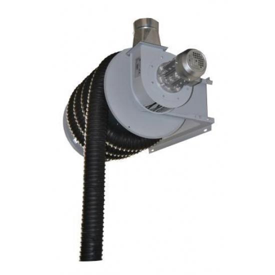 Mechaninė dujų surinkimo žarnos ritė su ventiliatoriumi GMRF