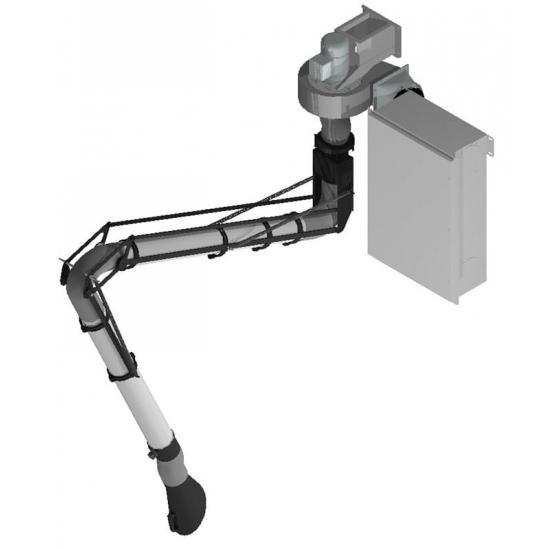 Fiksuota suvirinimo dūmų ištraukimo alkūnė su filtravimo sistema Worky SPARK-415